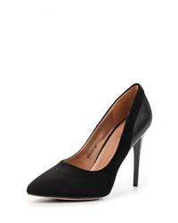 Черные кожаные туфли от BelleWomen