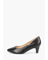 Черные кожаные туфли от Caprice