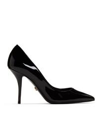 Черные кожаные туфли от Dolce And Gabbana
