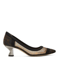 Черные кожаные туфли от Fendi