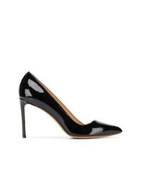 Черные кожаные туфли от Francesco Russo