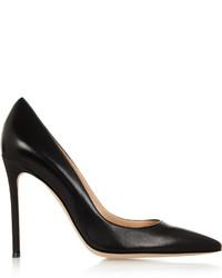 Черные кожаные туфли от Gianvito Rossi