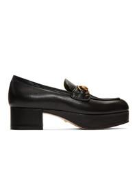 Черные кожаные туфли от Gucci