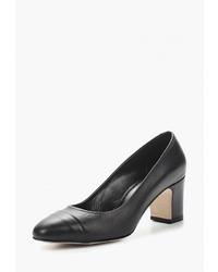 Черные кожаные туфли от Hestrend