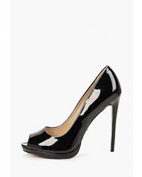 Черные кожаные туфли от Lino Marano