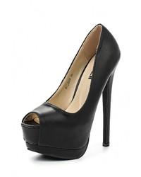 Черные кожаные туфли от Malien