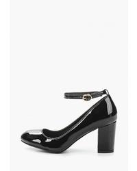 Черные кожаные туфли от Mellisa