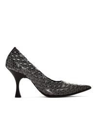 Черные кожаные туфли от MM6 MAISON MARGIELA