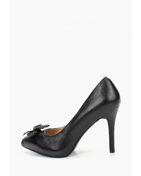 Черные кожаные туфли от Pierre Cardin