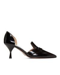 Черные кожаные туфли от Prada