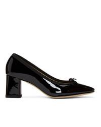 Черные кожаные туфли от Repetto