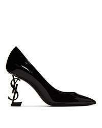 Черные кожаные туфли от Saint Laurent