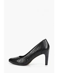 Черные кожаные туфли от Tamaris