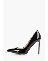 Черные кожаные туфли от Teetspace