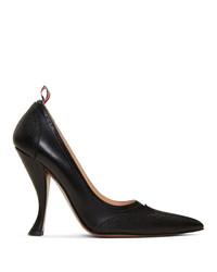 Черные кожаные туфли от Thom Browne