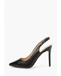 Черные кожаные туфли от Tuffoni