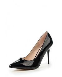 Женские черные кожаные туфли от Wilmar