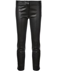 Черные кожаные узкие брюки от Derek Lam