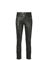 Черные кожаные узкие брюки от Isabel Marant Etoile