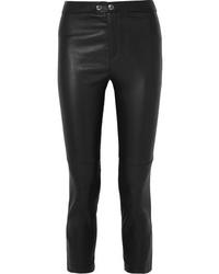 Черные кожаные узкие брюки от Isabel Marant