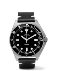Мужские черные кожаные часы от Bamford Watch Department