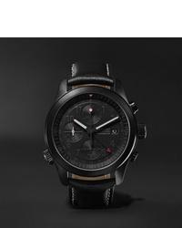 Мужские черные кожаные часы от Bremont