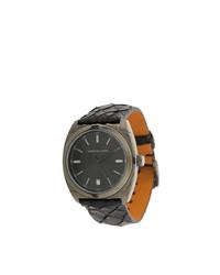 Мужские черные кожаные часы от Christian Koban