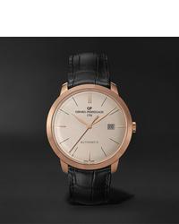 Мужские черные кожаные часы от Girard Perregaux