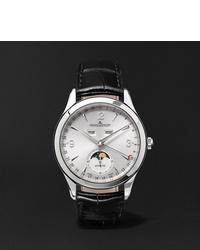 Мужские черные кожаные часы от Jaeger-LeCoultre