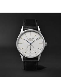Мужские черные кожаные часы от NOMOS Glashütte
