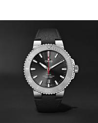 Мужские черные кожаные часы от Oris