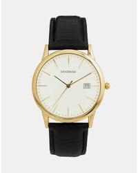 Мужские черные кожаные часы от Sekonda
