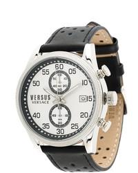 Мужские черные кожаные часы от Versus