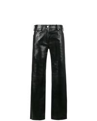 Черные кожаные широкие брюки от Calvin Klein 205W39nyc