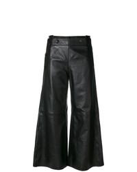 Черные кожаные широкие брюки от Golden Goose Deluxe Brand