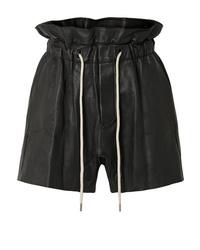 Женские черные кожаные шорты от Bassike