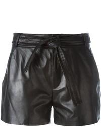 Женские черные кожаные шорты от IRO