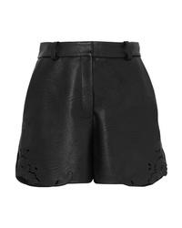 Женские черные кожаные шорты от Stella McCartney