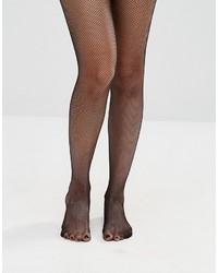 Женские черные колготки в крупную сеточку от Asos