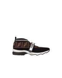Женские черные кроссовки от Fendi