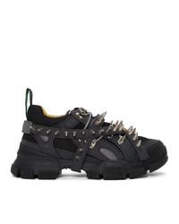 Мужские черные кроссовки от Gucci