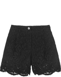 Черные кружевные шорты