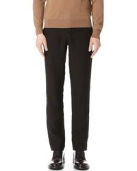 Черные льняные классические брюки