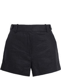 Женские черные льняные шорты от J.Crew