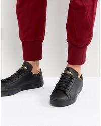 Мужские черные низкие кеды от adidas Originals
