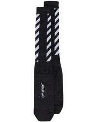 Женские черные носки в горизонтальную полоску от Off-White