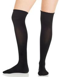 Черные носки до колена