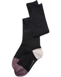 Женские черные носки до колена от Kate Spade