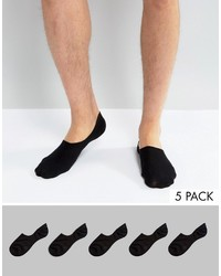 Мужские черные носки-невидимки от Asos