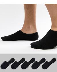 Мужские черные носки-невидимки от Jack & Jones
